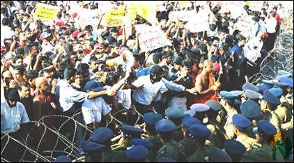 JVP protest in Colombo