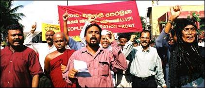 JVP preotest in Colombo