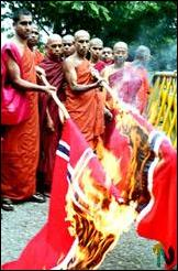 Buddhist monks demonstrate in Colombo