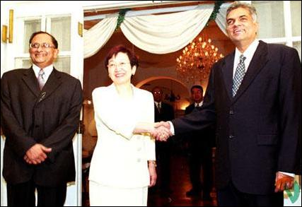 The Japanese Foreign Minister meet Ranil.