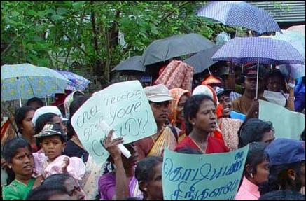 Protest in Kilinochchi 3
