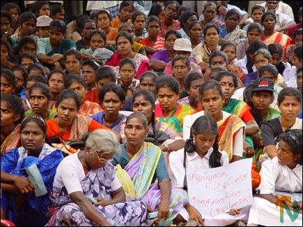 Protest in Kilinochchi 1