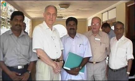 Tellefsen and LTTE officials