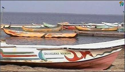 Boats of Indian fishermen