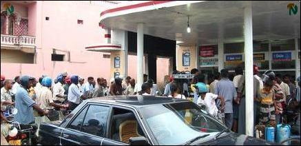Fear of fuel shortage