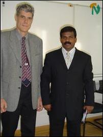 Mr. Ilamparuthy with Swiss Foreign Ministry official Markus Heiniger