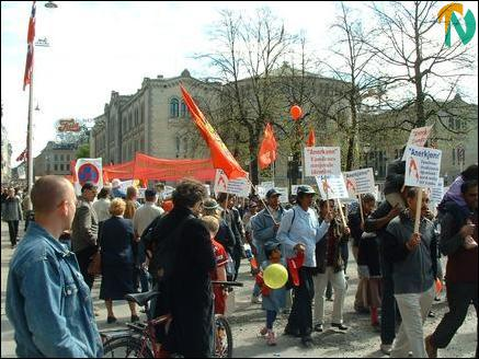May Day 2004 in Oslo, Norway