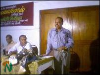 Mr. Vadivel Devaraj, editor of the Sunday edition of the Tamil daily Virakesari