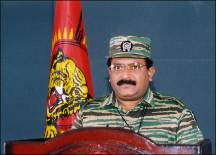 LTTE leader Mr. V. Pirabaharan, delivering his annual address on Martyrsday, 2004