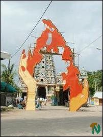 Heroes' Day cutout in Trincomalee