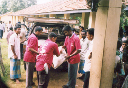 TRO volunteers in Batticaloa