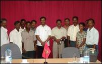 Representatives of Internally Displaced People meet with LTTE's political Head