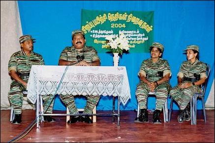 Passing out event at the LTTE's Military Training School