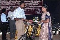 TRO distributes bicycles to tsunami affected pre-school teachers