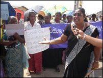 Trinco protest against 200 meter buffer zone