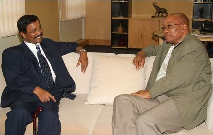 Thamilchelvan meets Deputy President of South Africa