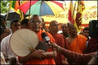 Monks protest