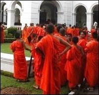 Buddhist Monks protest