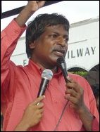 Mr.E.Thambiah, representing People's Campaign Against Upper-Kotmale Project