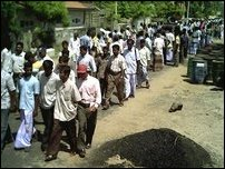 Mannar SSCP demo, 19 July 2005.