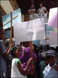 Demo against Puthur incident