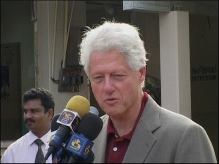 UN Special Envoy and Former US President Bill Clinton in Trincomalle