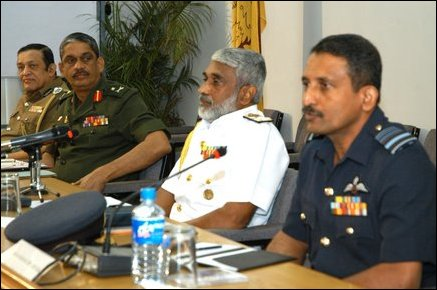 SL Military chiefs, IGP press conference