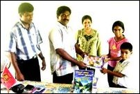 Southern NGO donates books to Muttur east students.