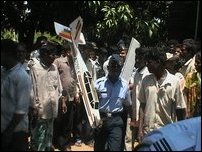 SLA espionage aircraft crash down in Vavuniya.
