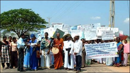 Women's peace march in Trinco