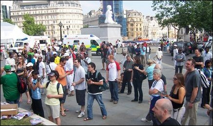 Protest in UK tourism promotion event