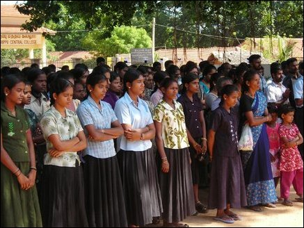 53 school girls remebered in Vanni