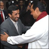 Mahinda Rajapaksa with Mahmoud Ahmadinejad