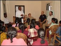 Fr. Karunaratnam with UNICEF officials