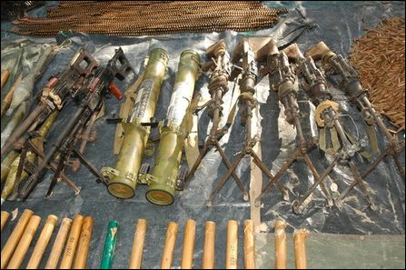 LTTE seizes arms, ammunitions from SLA in Vanni