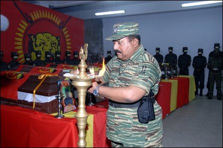 LTTE leader paying homage to Black Tigers