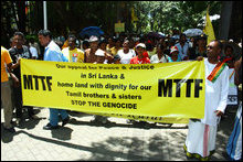 Mauritius protests against Genocide in Sri Lanka