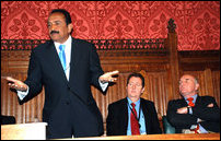 Vaiko in the British Parliament