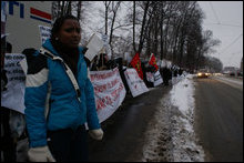 Tamils demonstrate in front of US Embassy in Oslo