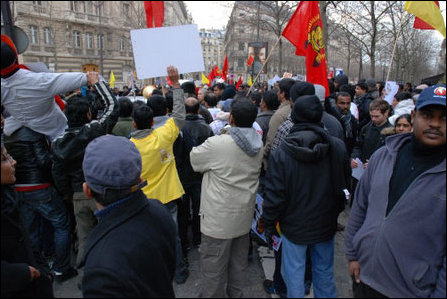 French Tamils demonstrate