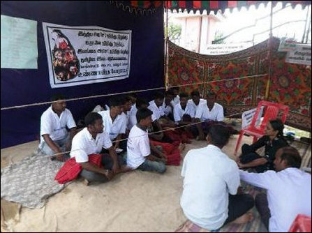 Fasting students of Chegkalpaddu Law College