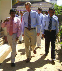 James R. Moore visit jaffna