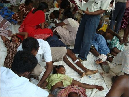 Patients at Maaththa'lan hospital