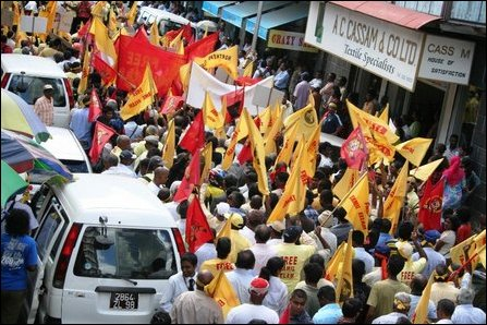Protests in Mauritius