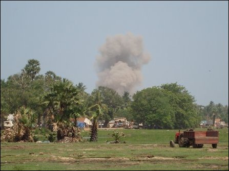 SLAF air strike in Mu'l'li-vaaykkaal