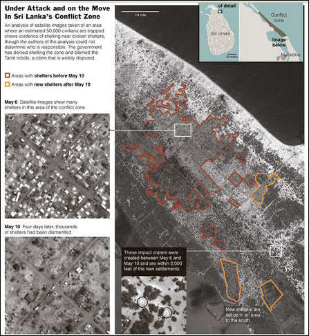 Safety Zone Satellite Map (Courtesy: NYT using AAAS Map)