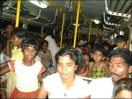 IDPs brought to Jaffna