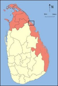 Target area of Colombo's colonisation