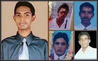 Student victims of Trincomalee executions