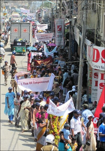 Women's Day observed in Jaffna